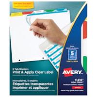 Imprimer et appliquer des diviseurs clairs avec des onglets multicolores Index Maker Avery