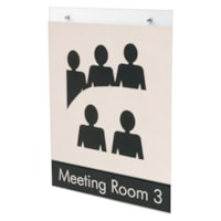 Grand & Toy Wall-Mount Sign Holder, Clear, Portrait