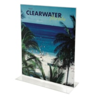 Grand & Toy Stand Up Bottom Loading Sign Holder,  Clear, For 8 1/2