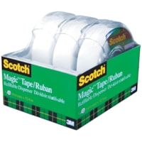 Scotch Magic Tape with Refillable Dispensers Value Pack