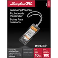 Pochettes de plastification transparentes pour porte-étiquettes de bagage LongLife Swingline GBC