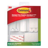 Command 38 Piece Picture Hanging Kit, White