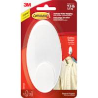 Command Clothes Hanger, White, 7 1/2 lb Capacity