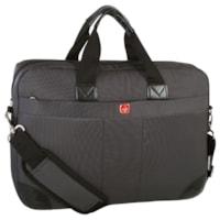 SwissGear Ultra-Slim Laptop Briefcase, Black, Fits Laptops up to 15.6