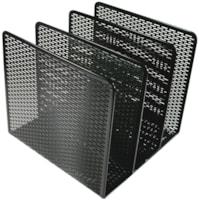 Artistic Urban Collection Black Punched Metal Desktop File Sorter