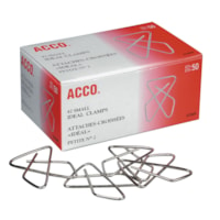 Acco Ideal Butterfly Clamps, Silver, #2 Small (1 1/2