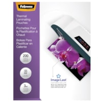 Fellowes Letter-Size Thermal Laminating Pouches, 3 mil, Pack of 200