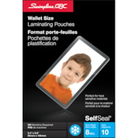 Swingline-GBC Clear SelfSeal Wallet-Size Cold Laminating Pouch, 10/Pk