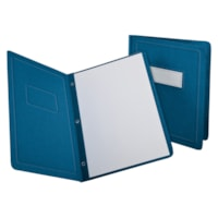 Oxford Report Covers with Embossed Border & Panel, Blue
