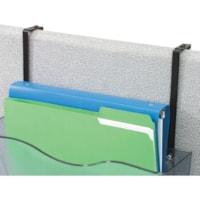 Support de fixation réglable en métal pour cloison Deflecto, noir, emb. de 2