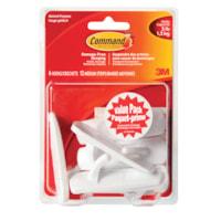 Command Adhesive Utility Hooks, Medium, 3 lb Capacity, 6 hooks/12 strips