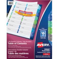 Intercalaires avec personnalisé table des matières Ready Index Double-Column Avery