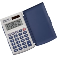 Calculatrice compacte à 8 chiffres Sharp, alimentation bimode
