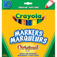 Crayola Broad Line Markers, Assorted Colours, 10/PK