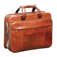 Mancini Signature Collection Double Compartment Laptop and Tablet Briefcase