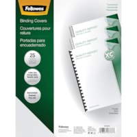 Fellowes Frosted Letter-Size Presentation Binding Covers With Square Corners