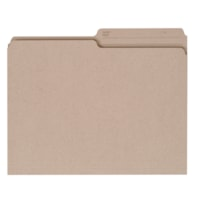 Grand & Toy Recycled File Folders, Natural, Letter-Size, 100/BX