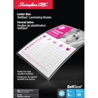 Feuilles de plastification à froid transparentes de format lettre SelfSeal Swingline GBC
