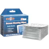Emzone Anti-Static Screen Cleaning Wipes, Pack of 50