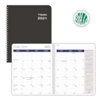 Blueline DuraGlobe Sugar Cane 14-Month Monthly Planner, 8 7/8