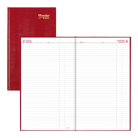 Brownline 12-Month Daily Planner, Red, January - December, English