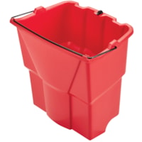 Rubbermaid Commercial WaveBrake Dirty Water Bucket, Red, 18-Quart Capacity