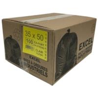 Sacs à ordures Eco II Manufacturing Inc., transparent, ultrarobuste, 35 po x 50 po, caisse de 100
