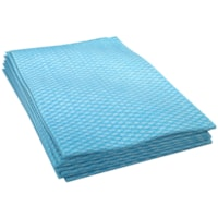 Cascades PRO Tuff-Job 1-Ply 1/4 Fold Economy Foodservice Towels, Blue/White, 200 Sheets/CT