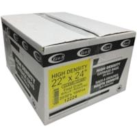 Sacs à ordures haute densité Eco II Manufacturing Inc., transparent, Réguliers, qualité alimentaire, 22 po x 24 po, caisse de 1 000