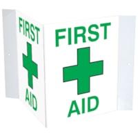 Enseigne en plastique 3D « First Aid » Safety Media