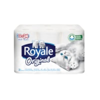 Royale 2-Ply Original Standard Bathroom Tissue 12=24, White, 253 Sheets/Roll, 12/PK