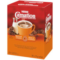 Nestlé Carnation Single-Serve Hot Chocolate, 19 g, 50/BX