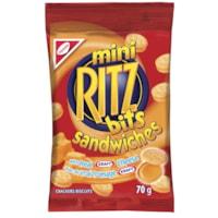 Christie Mini Ritz Bits Sandwiches Cheese Crackers, 70 g, 12/BX