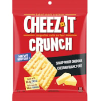 Cheez-It Crunch Baked Snack Crackers, Sharp White Cheddar, 92 g, 6/BX