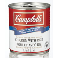 Campbell's Hearty Favourites Ready-to-Serve Soup, Chicken with Rice, 212 mL