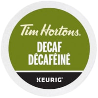 Tim Hortons Single-Serve Coffee K-Cup Pods, Decaf, 24/BX