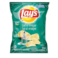 Lay's Potato Chips, Salt & Vinegar 40 g, 40/CT