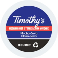 Timothy's® Single-Serve Coffee K-Cup Pods, Mocha Java, Box of 24