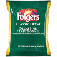 Folgers Ground Coffee Portion Packs, Classic Decaf, 1.4 oz, 42/BX