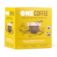 One Coffee Single-Serve Coffee Pods, Peruvian Blend, 18/BX