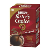 NESCAFÉ Taster's Choice Single-Serve Instant Coffee Stick Packs, Original, 80/BX