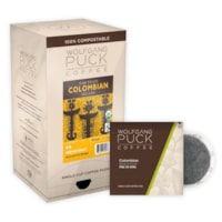 Wolfgang Puck Single Cup Coffee Pods, Colombian Medium Roast, 18/BX - Ontario, Montreal and Quebec Residents Only
