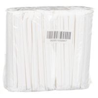 Stone Compostable Paper Straws, Individually Wrapped, White, 8
