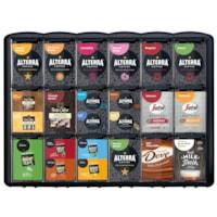 Présentoir de sachets portions individuelles Freshpack Flavia, 18 tiroirs