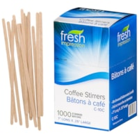 Fresh Impression Wood Coffee Stir Sticks, 7