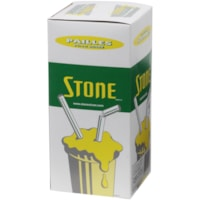 Stone Biodegradable Resin Straws, White, 8
