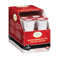 Twinings Single-Serve Tea K-Cup Pods, English Breakfast, 24/BX