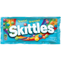 Skittles Tropical Flavour Chewy Candies, 61 g, 36/BX
