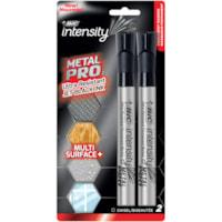 Marqueurs permanents Intensity Metal PRO Bic, noir, pointe biseautée, emb. de 2