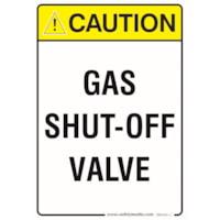 GAS SHUT OFF CAUTION 7X10